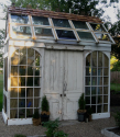 Greenhouse from reclaimed doors and windows