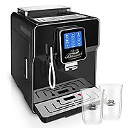 ☆ONE TOUCH☆ Kaffeevollautomat✔ 2 Thermogläser Gratis✔ CAFE BONITAS✔ NewStar Black✔ Touchscreen✔ Timer✔ 19 Bar✔ Kaffee...