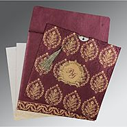 Designer Hindu Wedding Invitations | W-8249I | 123WeddingCards