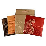 Classy Hindu Wedding Invitations | W-1721| 123WeddingCards