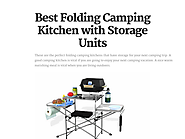 Best Folding Camping Kitchen with Storage Units