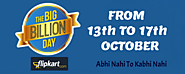 [NEXT] Flipkart Big Billion Day Sale Date: 13-17 October 2015