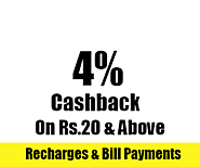 Paytm GRAB4 Coupon: Get 4% Cashback on Rs.20 & Above - Sitaphal.com