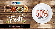Paytm Food Festival Wallet Offers: 50% Cashback on Dominos, Foodpanda, Swiggy - Sitaphal