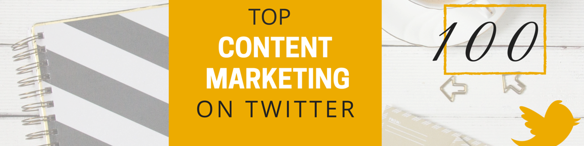 Headline for Top 100 Influencers for Content Marketing