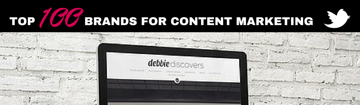 Headline for Top 100 brands for Content Marketing