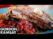 Pork Chops with Sweet and Sour Peppers - Gordon Ramsay