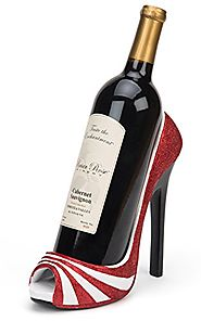 High Heel Wine Bottle Holder - Four Attactive Style Variations Available (Striped)...