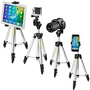 iKross 41-inch Portable Light weight Tripod with Adapters for Gopro HERO, Apple iPhone, iPad, Samsung Smartphone, Tab...