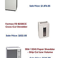 Buy Desktop Shredders Online at Best Prices | Visual.ly
