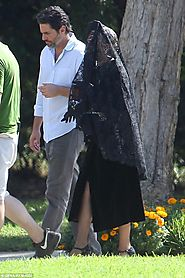 Lady Gaga spotted attending a funeral on set of American Horror Story