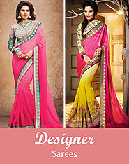 Buy Indian Wedding Sarees, Latest Designer Sarees Online Shopping at Vessido