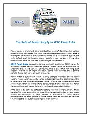 APFC Panel is Used to Save Energy and Improve Power Efficiency