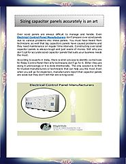 Correctly Sizing capacitor panels accurately is a skill