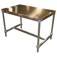 "PVIFS AIFT303448-ST Stainless Steel Top I-Frame Work Table, 48"" Length x 30"" Width x 34"" Height"