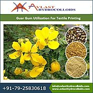 Guar gum printing thickener is a crucial part in textile sector