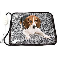 RIOGOO Pet Dog Waterproof Electric Heating Mat Cat Warming Pad With Anti Bite Tube
