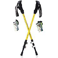 DAOTS 2-Pack Trekking Poles Walking Hiking Sticks for Trekking Walking Hiking/Carbon Fiber Material/Physical anti-sho...