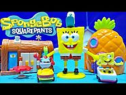 SpongeBob Squarepants Figure Two NEW Mini Playset Nickelodeon SpongeBob Toys Bob Esponja Juguetes