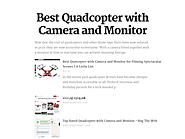 Best Quadcopter with Camera and Monitor