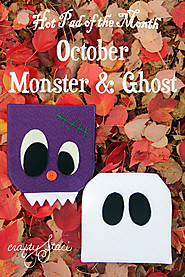 Hot Pad of the Month-October Monster and Ghost