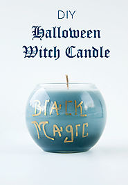DIY Halloween Witch Candle