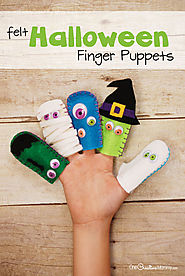 Adorable Felt Halloween Finger Puppets - onecreativemommy.com