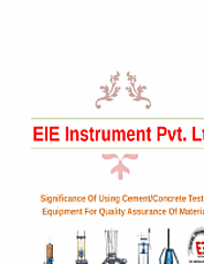 Significance Of Using Cement/Concrete Testing Equipment For Quality Assurance Of Materials
