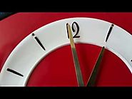 Retro Vintage 50' French Red Formica Kitchen Winding Wall Clock