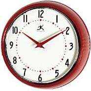 Top Rated Red Kitchen Wall Clocks: Retro, Small, Large, Rooster and red Apple - Tackk