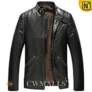 CWMALLS Leather Motorcycle Jacket CW850403