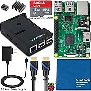 Vilros Raspberry Pi 3 Complete Starter Kit--Black Case Edition