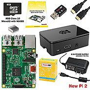 CanaKit Raspberry Pi 2 Complete Starter Kit with WiFi (Latest Version Raspberry Pi 2 + WiFi + Original Preloaded 8GB ...