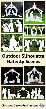 Outdoor Silhouette Nativity Scenes - Sometimes atop the manger, you'll find a star the wise men followed. While a lot...