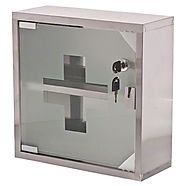 Update International (MC-125S) Locking First Aid Cabinet