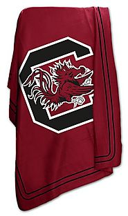 South Carolina Gamecocks Fleece USC Throw Blanket