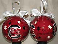 South Carolina Gamecocks Snowflake Ball Christmas Ornament