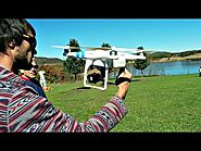 DJI Phantom 2 Aerial Quadcopter UAV Drone Flight