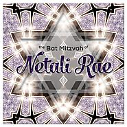 Lilac Sparkle Star Bat Mitzvah Invitation