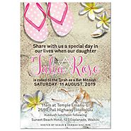 By the beach Bat Mitzvah Invitation