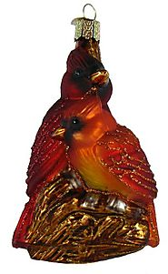 Old World Christmas Pair Of Cardinals Ornament