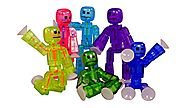 Toy Shed Stikbots for 6-Color Action Figure, Pack of 6