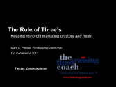 The Rule of Threes: Marketing for nonprofits