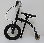 e001 | Levicle folding bike rides like a balance bike for adults