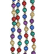 Kurt Adler 9' Multi Glitter Beaded Garland