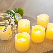 [Gorgeous Flameless Candles] - Flickering LED Candles - 100+ hrs of Extended Light Time - Set of 6 Unscented Battery ...