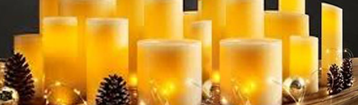 Headline for Flameless Indoor Outdoor Real Wax Candles