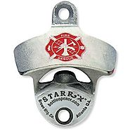 Fireman's Cross U.S.A. MADE Zinc Aluminum Starr X Wall Mount Bottle Opener NEW!