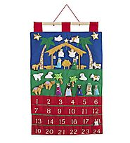 Nativity Fabric Advent Calendar by Vermont Christmas Company