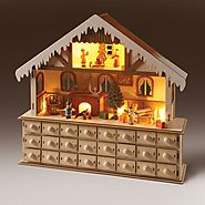 Lighted Santa's Advent Wooden Workshop by Art & Artifact